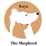 Kaya The Shepherd & Ashleigh the Human Logo